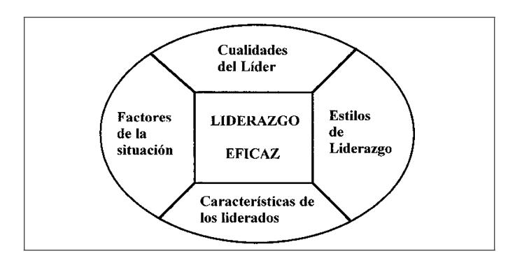 Componentes de un liderazgo eficaz (adaptado de Martens, 1987)